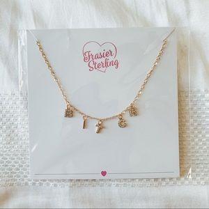 CZ & 14k Gold Charm Necklace - Fraiser Sterling